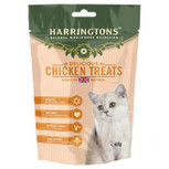 white cat harringtons chicken treat